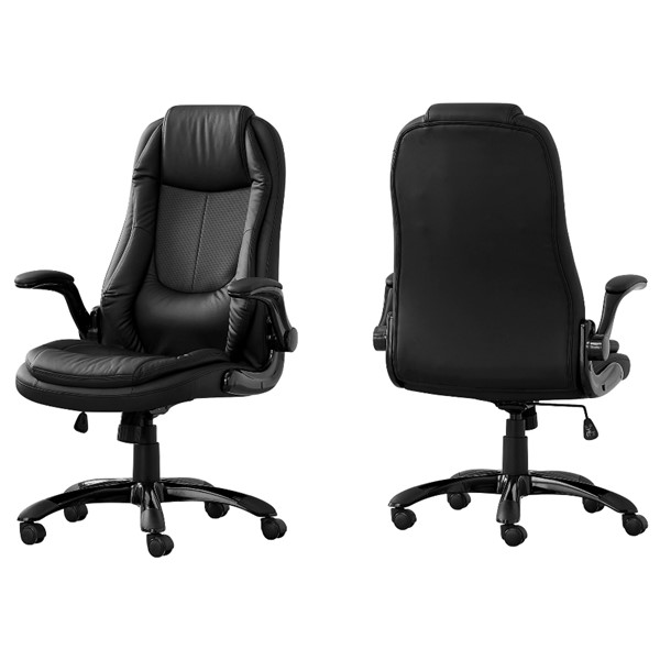 Monarch Specialties Black Leather Office Chair MNC-I-7277