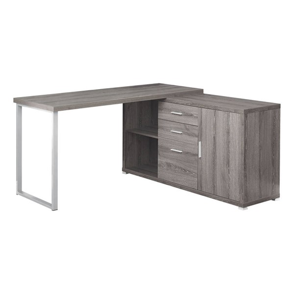 Monarch Specialties Taupe Left or Right Facing Computer Desks MNC-I-7285-OCH-VAR