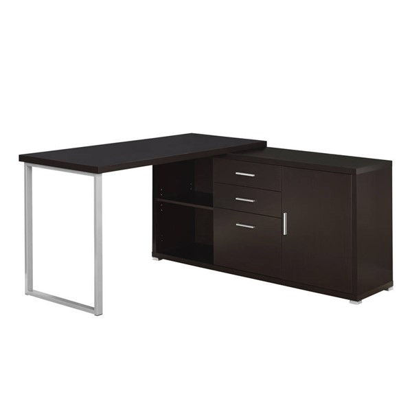 Monarch Specialties Cappuccino Left or Right Facing Computer Desk MNC-I-7286