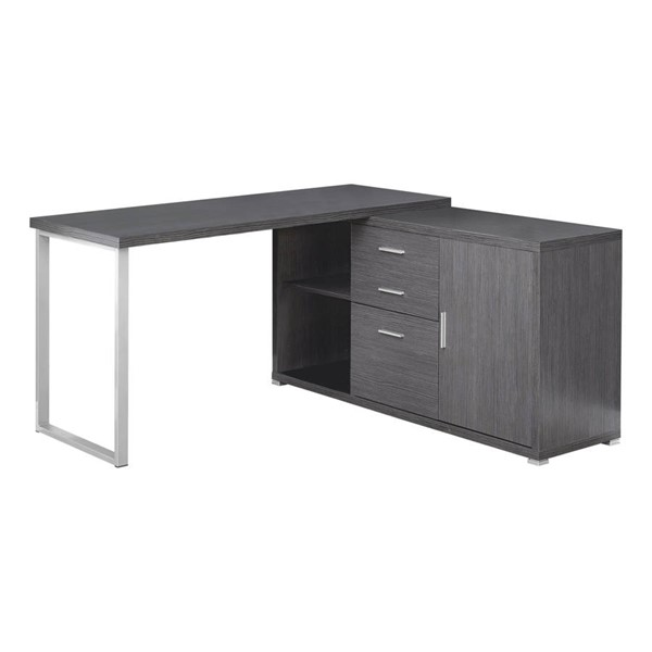 Monarch Specialties Grey Left or Right Facing Computer Desk MNC-I-7287