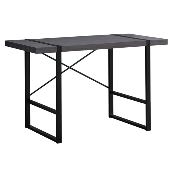Monarch Specialties Modern Grey Black Metal Computer Desk MNC-I-7312