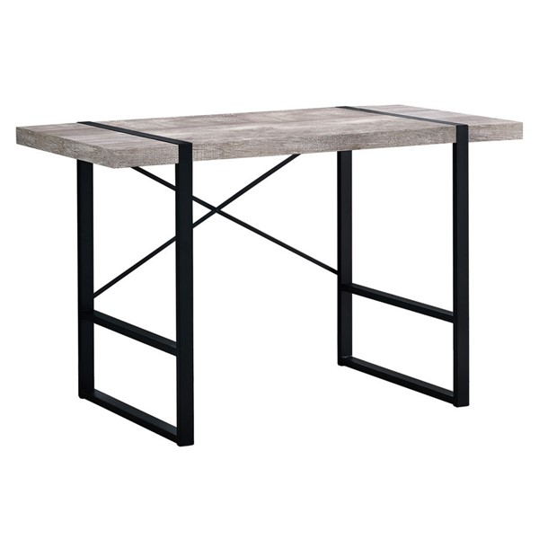 Monarch Specialties Taupe Wood Black Metal 48 Inch Computer Desk MNC-I-7315