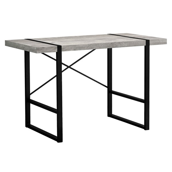 Monarch Specialties Grey Wood Black Metal 48 Inch Computer Desk MNC-I-7316