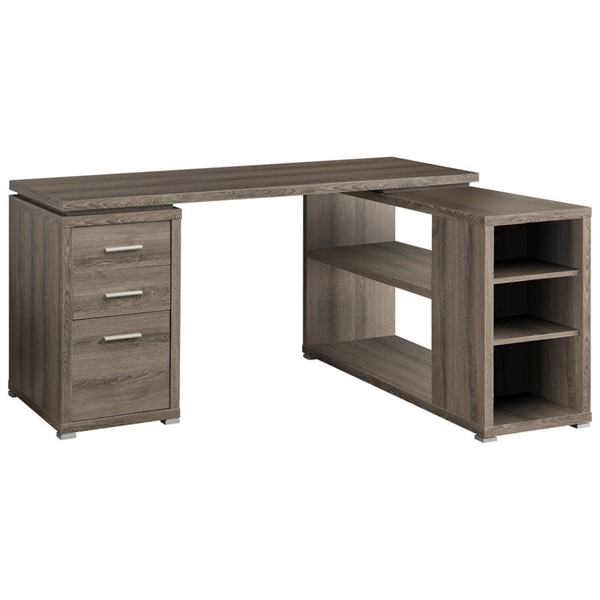 Monarch Specialties Taupe Left or Right Facing Corner Computer Desk MNC-I-7319