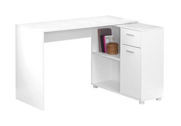 Monarch Specialties White MDF Storage Cabinet Computer Desk MNC-I-7350