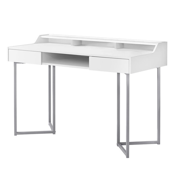 Monarch Specialties Contemporary White Computer Desk MNC-I-7361