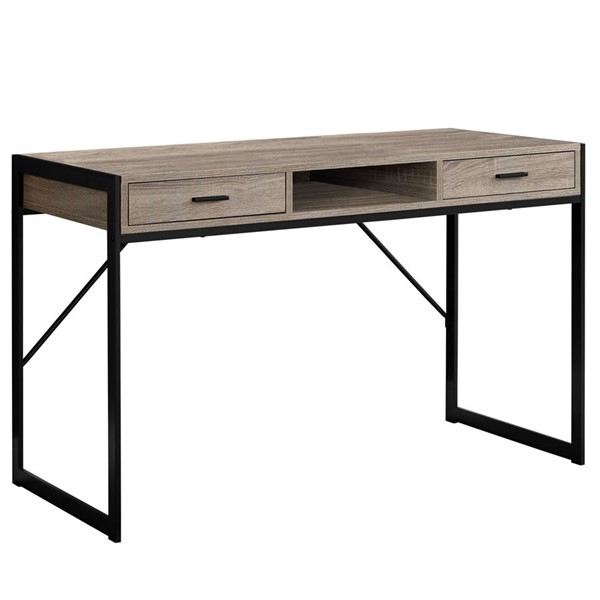 Monarch Specialties Contemporary Taupe Computer Desk MNC-I-7365