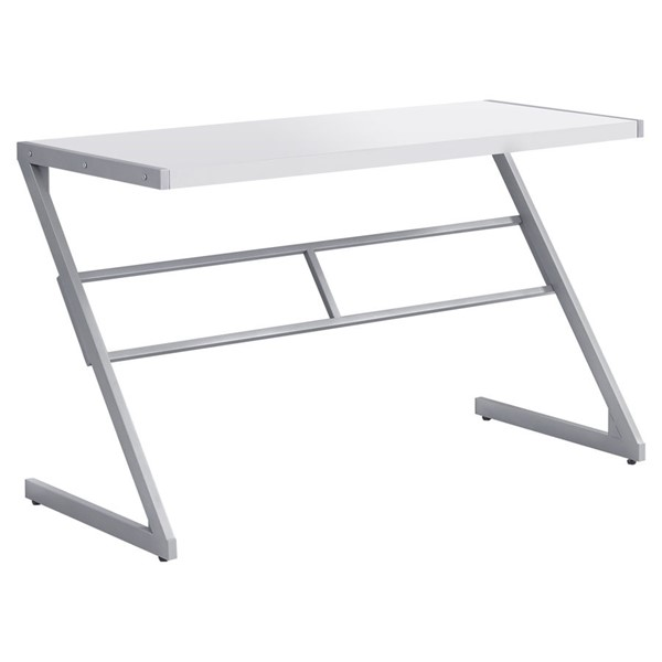 Monarch Specialties White MDF 48 Inch Computer Desk MNC-I-7372