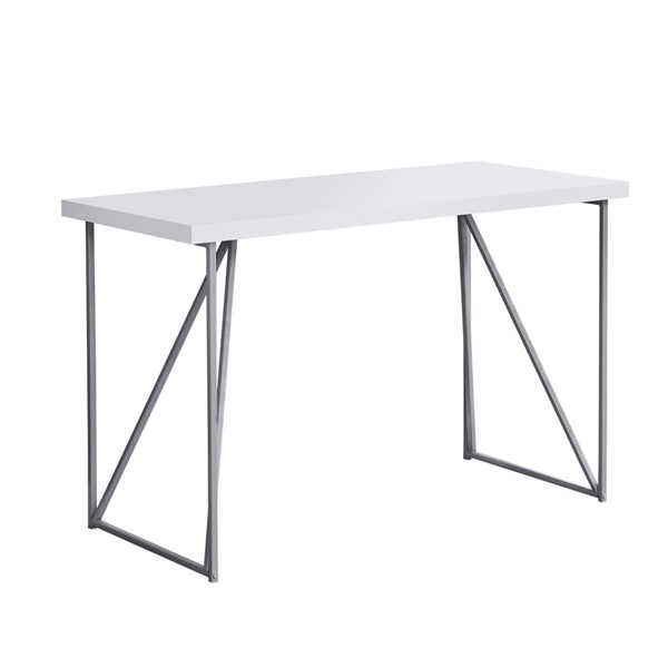 Monarch Specialties White 48 Inch Computer Desk MNC-I-7376
