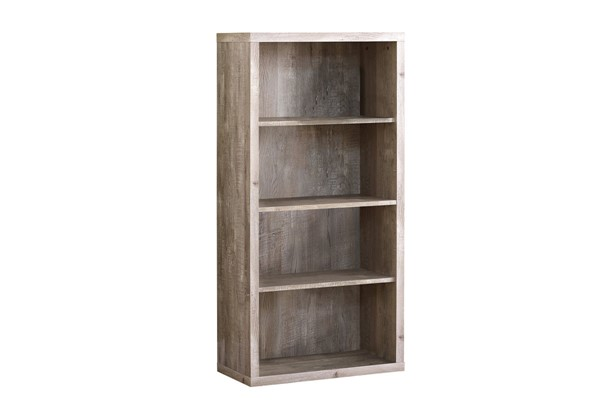 Monarch Specialties Taupe Adjustable Shelves Bookcase MNC-I-7406