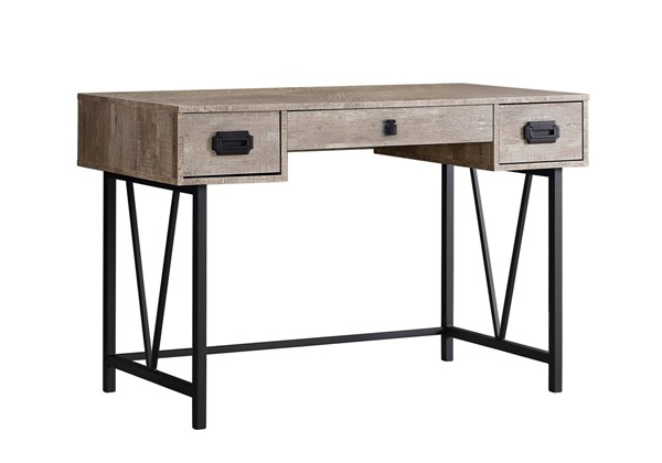 Monarch Specialties Taupe 48 Inch Computer Desk MNC-I-7414