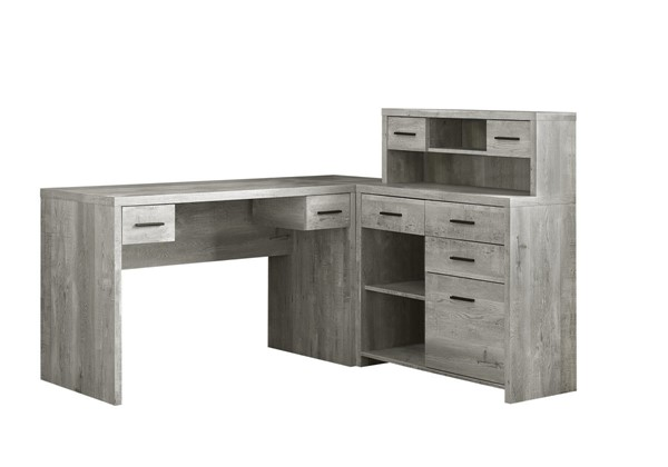 Monarch Specialties Grey Wood Computer Desk MNC-I-7428