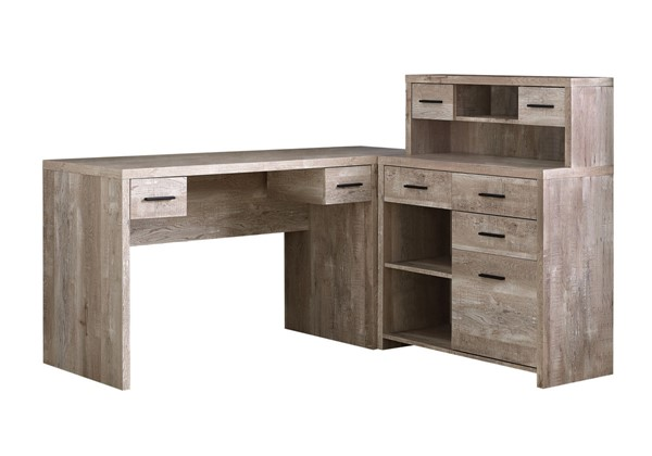 Monarch Specialties Taupe Wood Computer Desk MNC-I-7429