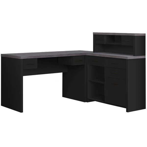 Monarch Specialties Black Grey Computer Desk MNC-I-7430