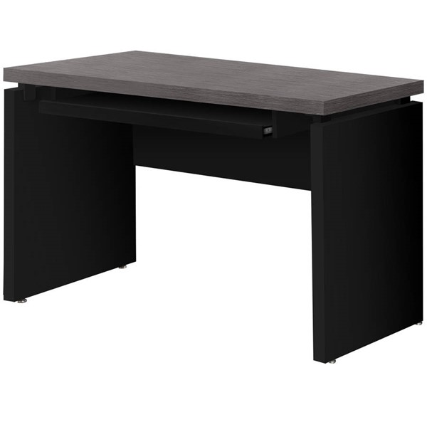 Monarch Specialties Black Grey 48 Inch Computer Desk MNC-I-7439