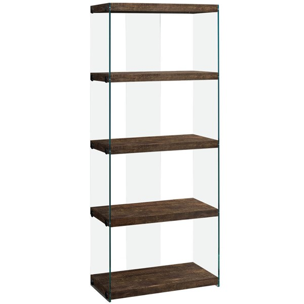 Monarch Specialties Brown Wood Bookcase MNC-I-7441