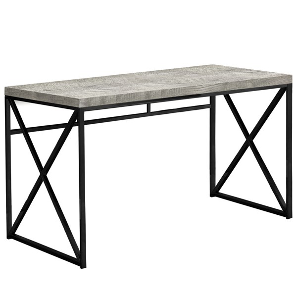 Monarch Specialties Grey Black Metal Computer Desk MNC-I-7451