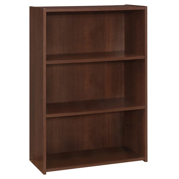 Monarch Specialties Cherry 36 Inch 3 Shelves Bookcases MNC-I-7475