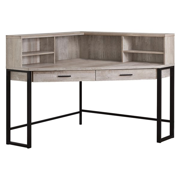 Monarch Specialties Taupe Wood Black 48 Inch Computer Desk MNC-I-7516