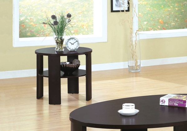 Monarch Specialties Cherry Accent End Table MNC-I-7861E