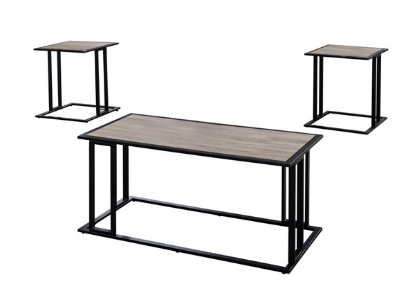 Monarch Specialties Taupe 3pc Coffee Table Set MNC-I-7955P