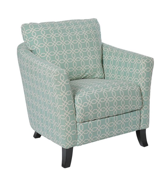 Monarch Specialties Green White Fabric Wood Accent Chair MNC-I-8003