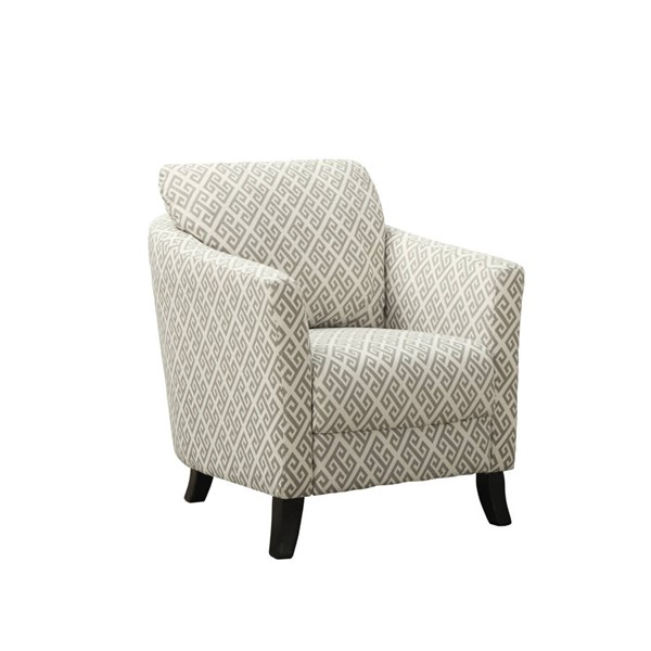 Monarch Specialties Grey Fabric Black Accent Chair MNC-I-8009