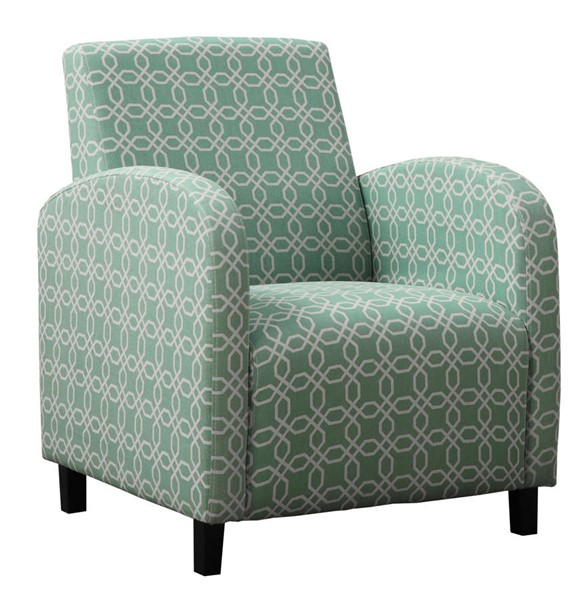 Monarch Specialties Green White Fabric Accent Chair MNC-I-8043