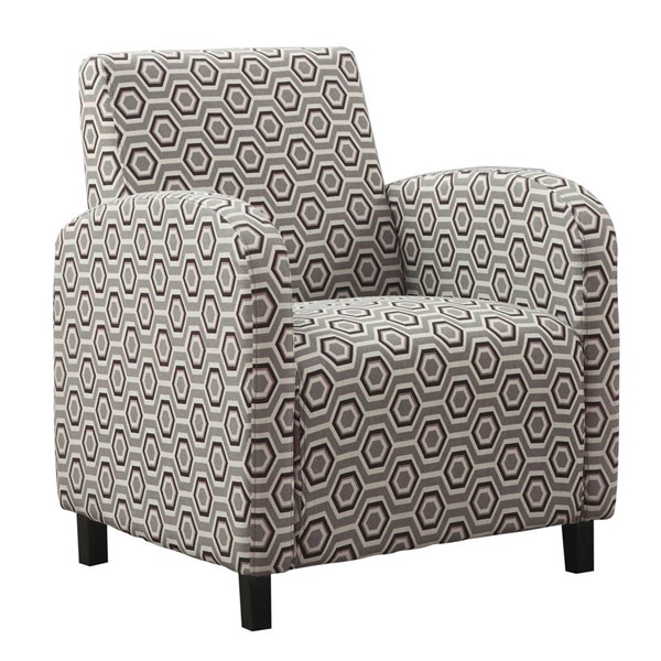 Monarch Specialties Brown Fabric Accent Chair MNC-I-8044