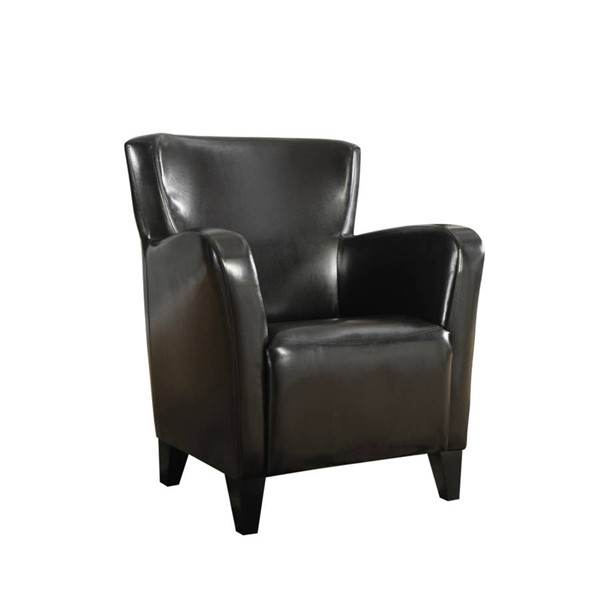 Monarch Specialties Dark Brown Leather Accent Chair MNC-I-8075