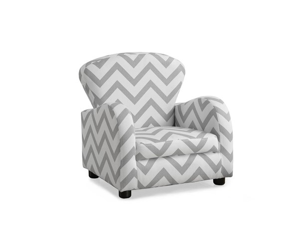 Monarch Specialties Grey White Fabric Juvenile Chair MNC-I-8143