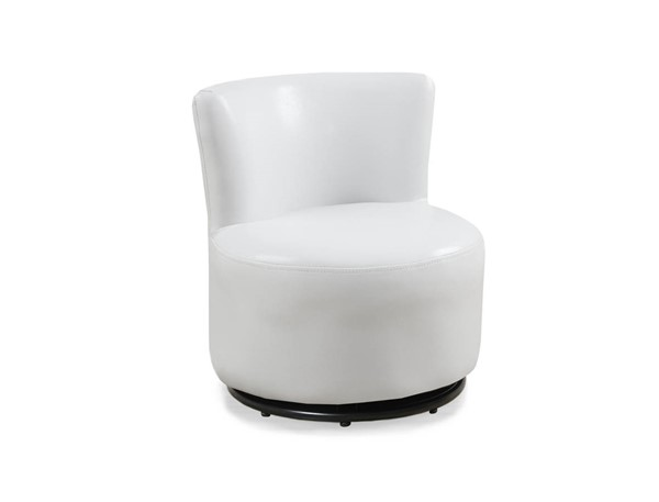 Monarch Specialties White Leather Swivel Juvenile Chair MNC-I-8153