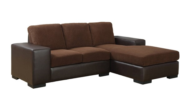 Monarch Specialties Brown Bonded Leather Sofa Loungers MNC-I-8200BB-SEC-VAR
