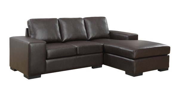 Monarch Specialties Dark Brown Bonded Leather Sofa Loungers MNC-I-8200BR-SEC-VAR