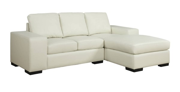 Monarch Specialties Ivory Bonded Leather Sofa Lounger MNC-I-8200IV
