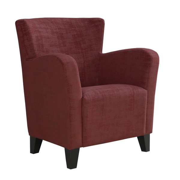 Monarch Specialties Red Velvet Fabric Accent Chair MNC-I-8216