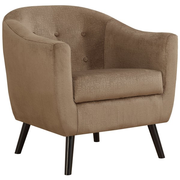 Monarch Specialties Light Brown Mosaic Velvet Accent Chair MNC-I-8259