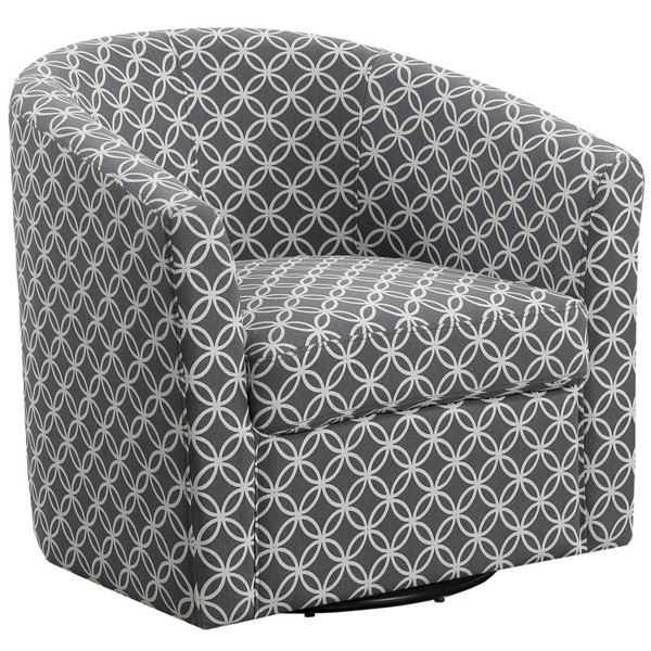 Monarch Specialties Grey Fabric Swivel Accent Chair MNC-I-8269