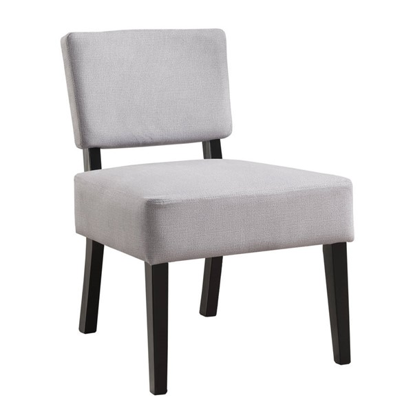Monarch Specialties Grey Fabric Cushion Back Accent Chair MNC-I-8276