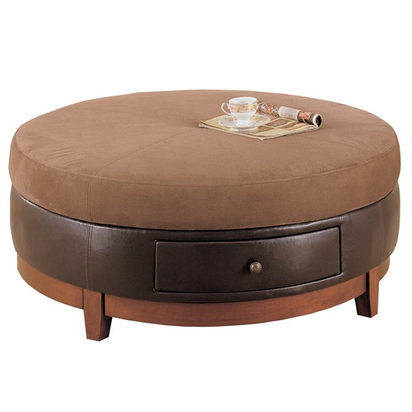 Monarch Specialties Brown Fabric Coffee Table MNC-I-8917