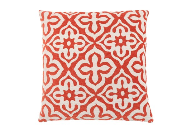 Monarch Specialties Orange Motif Design Pillow MNC-I-9220