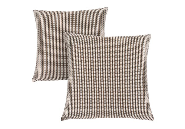 2 Monarch Specialties Brown Abstract Pillows MNC-I-9239
