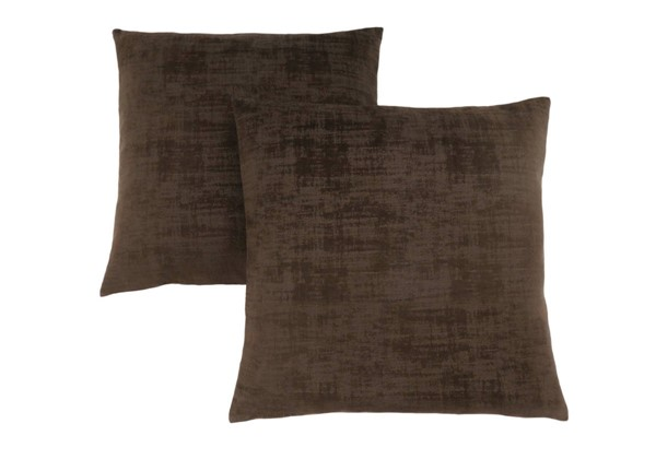 2 Monarch Specialties Brown Velvet Pillows MNC-I-9251