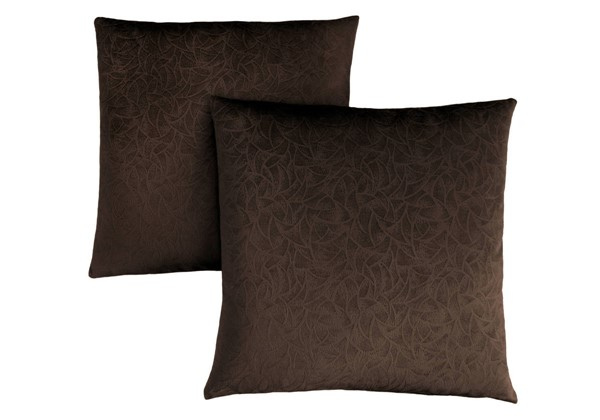 2 Monarch Specialties Dark Brown Floral Pillows MNC-I-9265