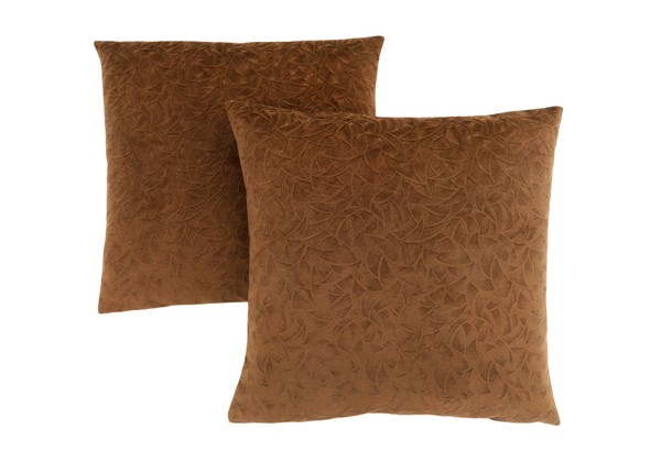 2 Monarch Specialties Light Brown Floral Pillows MNC-I-9269
