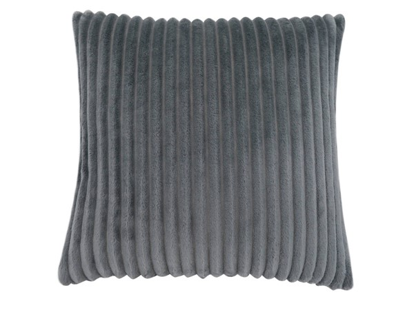 Monarch Specialties Grey Ultra Soft Ribbed Pillow MNC-I-9352