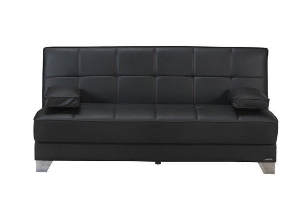 Tribeca Nyc Prestige Black Faux Leather MDF Plywood Sofa Bed MOB-TRIBECA-NYC-BLK-SF-BED
