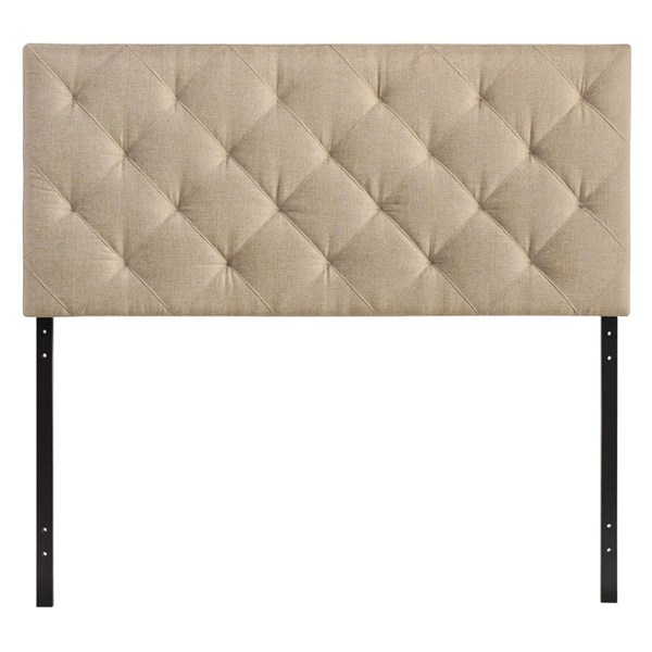 Theodore Contemporary Beige Fabric Wood Twin Headboard MOD-5311-BEI