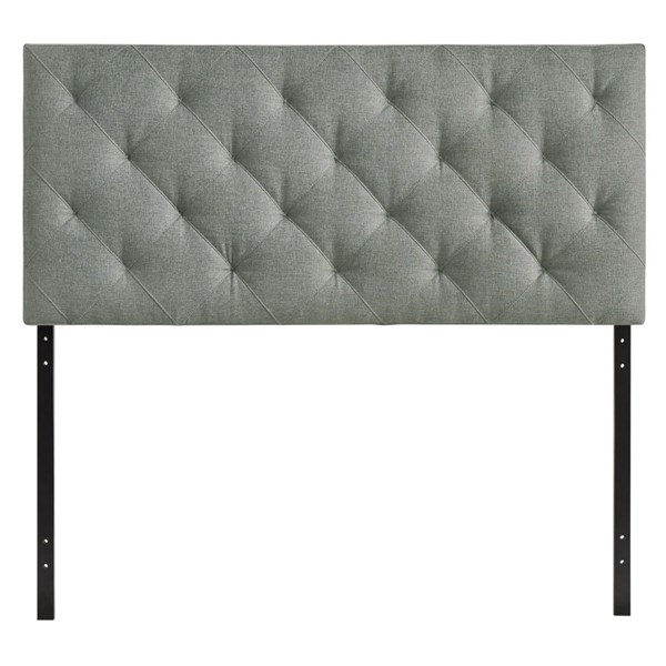 Theodore Contemporary Gray Fabric Wood Twin Headboard MOD-5311-GRY