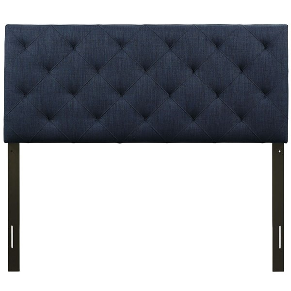 Theodore Contemporary Navy Fabric Wood Full Headboard MOD-5313-NAV